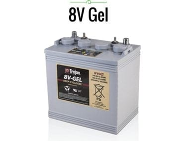 trojan 8 volt gel battery